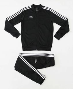 NWT ADIDAS Men's Black Cuffed Warm-Up Tricot Track Suit Set