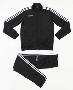 NWT ADIDAS Men's Black-White Pocket-Zipper Track Suit Set Ja
