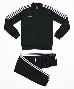NWT ADIDAS Men's Black-White Warm-Up Tricot Track Suit Set J