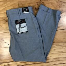 NWT Men's Van Heusen Flex Slim Fit Work Dress Suit Pants Sla