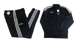 NWT Men's Adidas Navy 3 Stripe Track Suit - Full Zip Jacket