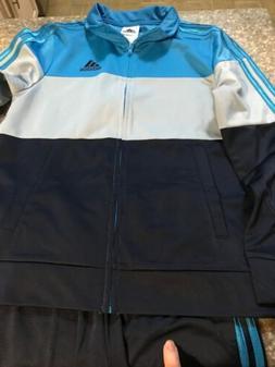 NWT ADIDAS Men's Navy/Green Track Warm-Up Jog Suit Set Jacke