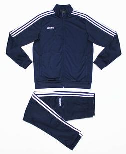NWT ADIDAS Men's Navy-White Warm-Up Tricot Track Suit Set Ja