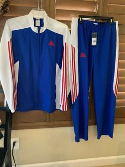 NWT MENS ADIDAS 2016 RETRO CLASSIC FIT TRACK SUIT Red/Wht/BL