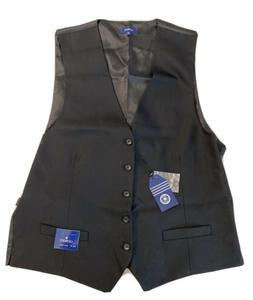 NWT! Gioberti Mens 5 Button Formal Suit Vest, Black, X-Large
