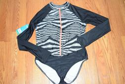 NWT Womens SPEEDO Granatina Black Coral Long Sleeve Zip One