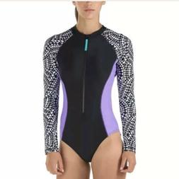 NWT Women's Speedo Long Sleeve One Piece Body Suit New Siz