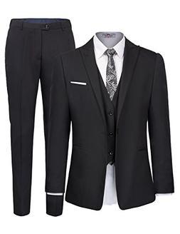 642c7fdc2b4 Men s One Button 3 Piece Suit Blazer Jacket Tux Vest and Tro