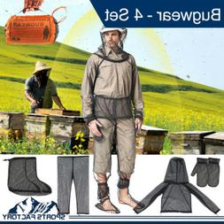 Outdoor Bug Wear Anti Mosquito Suit Jacket Mitts Pants Socks