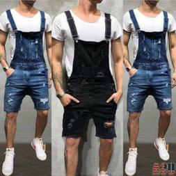 Overalls Short Suits HOT Men One Piece Jeans Jumpsuits Trous