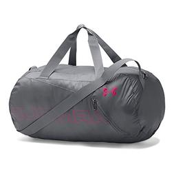 Under Armour Packable Duffle Bag, Graphite /Tropic Pink, One