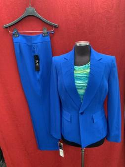 LESUIT PANT SUIT/ROYAL/SIZE 18W/NEW WITH TAG/RETAIL$240/INSE