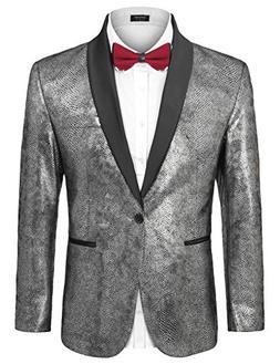 COOFANDY Men's Party Suit Jacket Slim Fit Blazer Luxury We