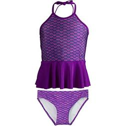Peplum Tankini Set, Asian Magenta Top, Asian Magenta Bottom,