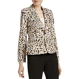 Calvin Klein Womens Petites Leopard Print Office Wear One-Bu