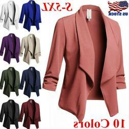 Women's Plus Size OL Suit Slim Blazer Jacket Coat Top Outwea