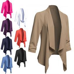 Plus Size Womens Slim OL Suit Casual Blazer Jacket Coat Tops