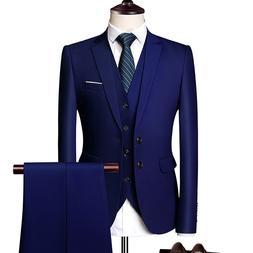 Pure Color Men Formal <font><b>Suits</b></font> Fashion Busi