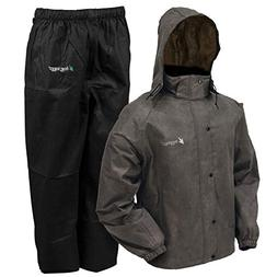 frogg toggs All Sport Rain and Wind Suit, STONE/BLACK, XL