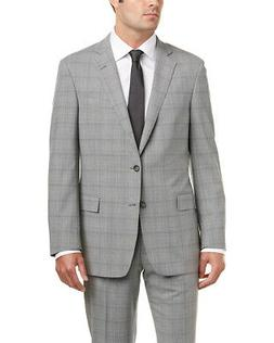 Brooks Brothers Mens 2Pc Regent Fit Wool Suit, 42R, Grey