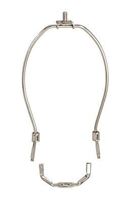 """B&P Lamp 7"""" Harp, Regular Weight, Nickel Finish"""