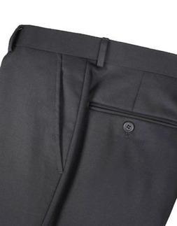 Renoir Men's Solid Black Dress Slacks/Pants - Suit Separates