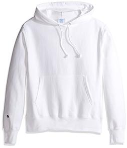 Champion LIFE Men's Reverse Weave Pullover Hoodie, White, M