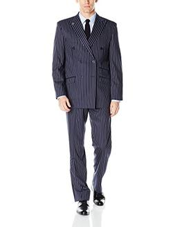 STACY ADAMS Men's Sam Striped Double Brested 2 Piece Suit, N