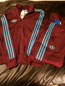 Adidas Sample Track Suit Brand New Maroon