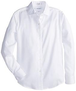 Calvin Klein Boys' 8-20 Sateen Dress Shirt