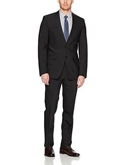 slim fit stretch wool suit