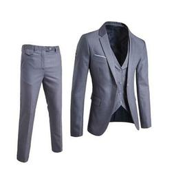 Fashion Slim Suits  Blazers Jacket Pants Trousers Vest Sets