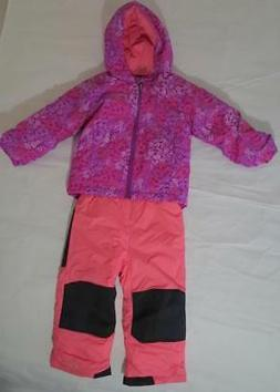 Columbia Snowsuit Bib Pants Coat Jacket set Girl 3T Winter W