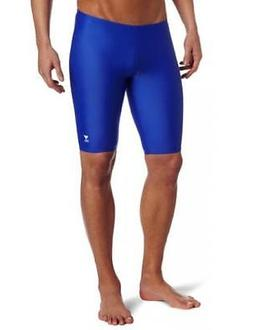TYR Sport Boys' Solid Jammer Swim Suit,Royal,38