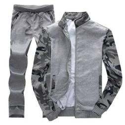 Spring Suits Men Cotton Blend Spring Camouflage Youth Sport