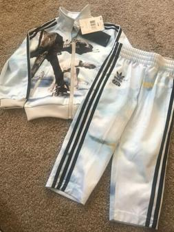 Adidas Star Wars Firebird Track Suit AB1847 Size 18M Kids Bo