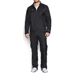 Under Armour Men's Storm Golf Rain Suit, Black /Steel, Large