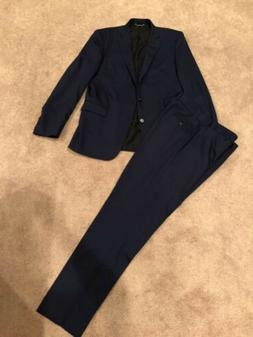 Brooks Brothers Suit 42L Blue Milano Fit