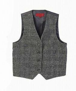 Gioberti Suits Gray Size 8 Vest Wedding Button-Down Pockets