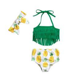 Summer Baby Girl Bikini Suit Swimwear Swimsuit Tassel Bathin
