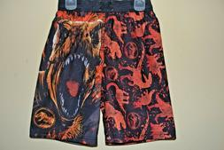 JURASSIC WORLD SWIM SUIT-BOYS SIZE 8-LICENSED/LINED/PULL STR