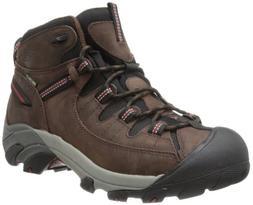 KEEN Men's Targhee II Mid WP Hiking Boot,Chestnut/Bossa Nova