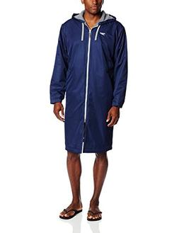 Speedo Men's Team Unisex Swim Parka, Navy, Small
