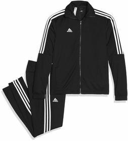 Adidas Tiro Track Suit Jacket Top Pants Black White 3 Stripe