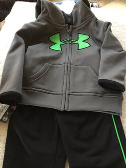 Under Armour Toddler boy Track Suit Set 2 Piece Pants & Jack