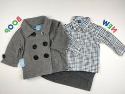 Toddler Kids Boys Clothes 4 & 6 NWT Good Lad Silver Suit Jac