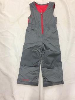 Toddler Columbia Ski suit 3T Gray/Pink Warm