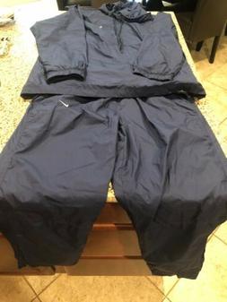 Nike Track Suit Wind Suit Windbreaker Blue/Gray XL/L Mesh Li