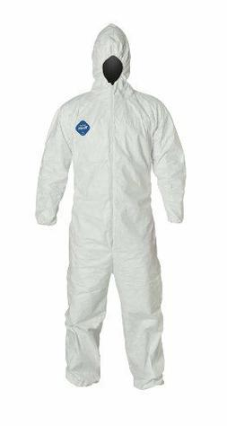 DuPont Tyvek TY127S Disposable Coverall Bunny Suit W/Hood El