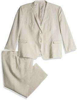 U.S. Polo Assn. Men'S Big And Tall Linen Suit, Tan, 60 Regul